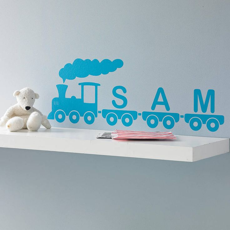 personalised train vinyl wall sticker by oakdene designs | notonthehighstreet.com