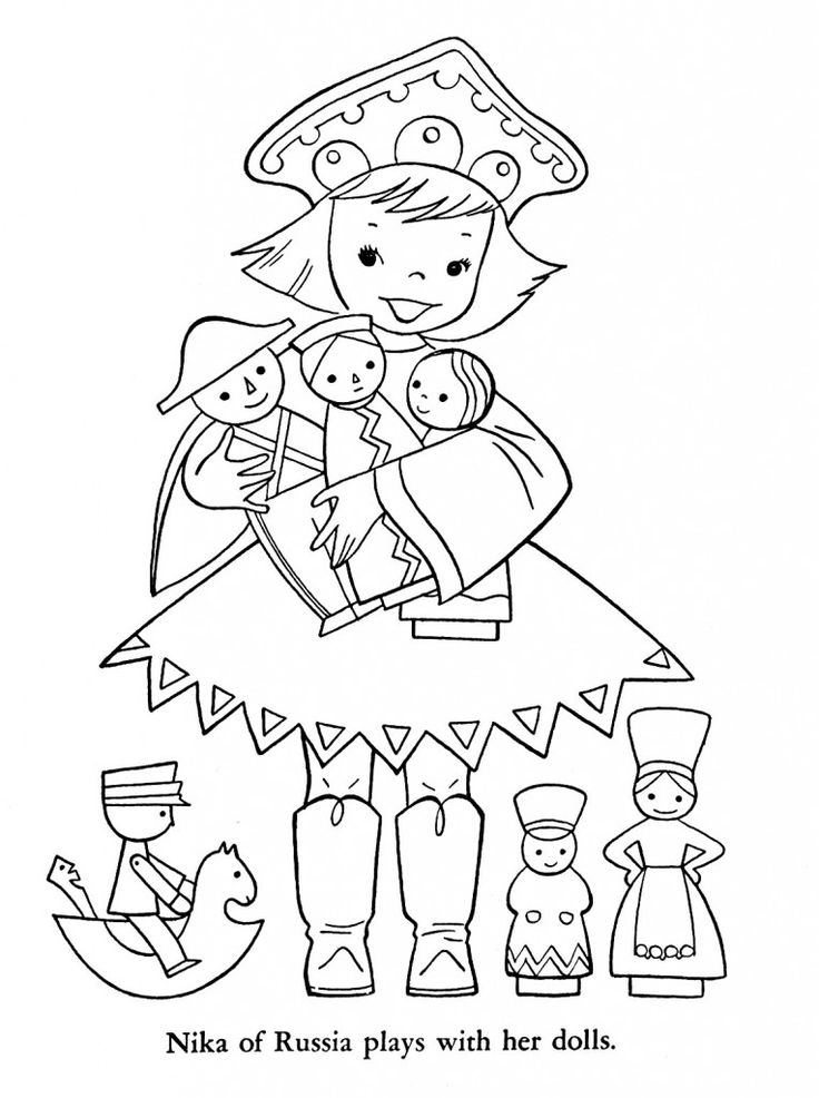 russian folk art coloring pages - photo#43