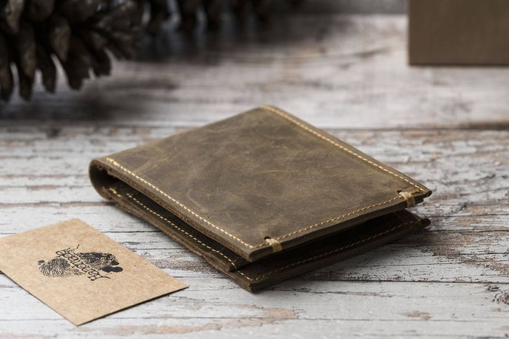Bifold Wallet, Leather Wallet, Mens Leather Wallet, Mens Wallet, Groomsmen Gifts, Classic Wallet, Gift for Him, Brown Leather Wallet by o2leather on Etsy