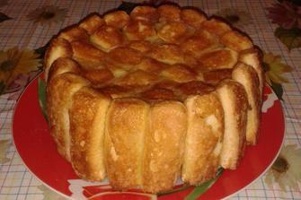 Torta con savoiardi e mele