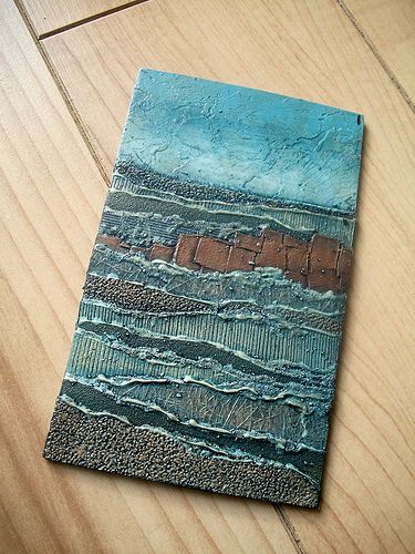 The collagraph plate from the 1st in a series made from discarded wallpaper samples.