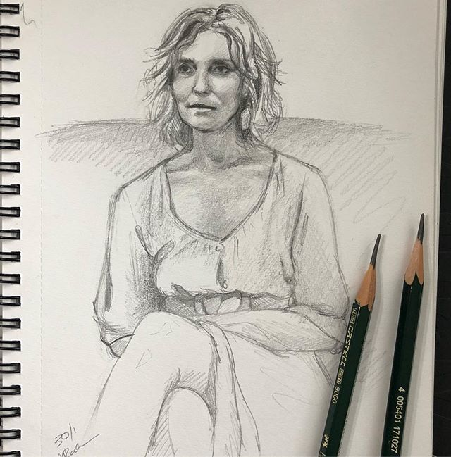 Anies. This mornings sketch. #drawing#portrait#woman#pencildrawing#sketchbook#artist