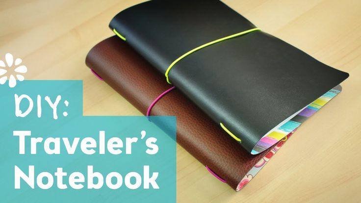 How to Make a Traveler's Notebook.  Travel notebook for wedding/honeymoon to record every detail of the trip.  Tutorial seems pretty easy to make but definitely change the color scheme.