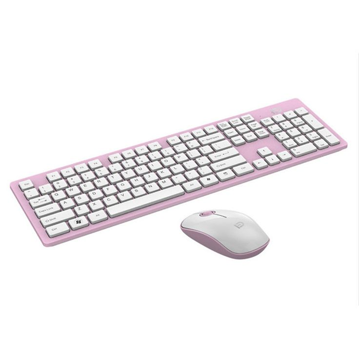 ==> [Free Shipping] Buy Best Universal Wireless Gaming Mouse Keyboard Set for Desktop Computers Notebooks1200dpi Optical mouse with usb receiver Pink Black Online with LOWEST Price | 32813639575