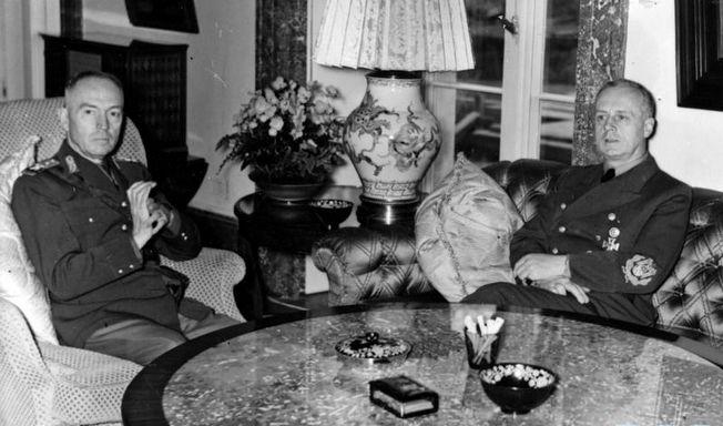 Ion Antonescu and Joachim von Ribbentrop, Berlin, Germany, Nov 1940