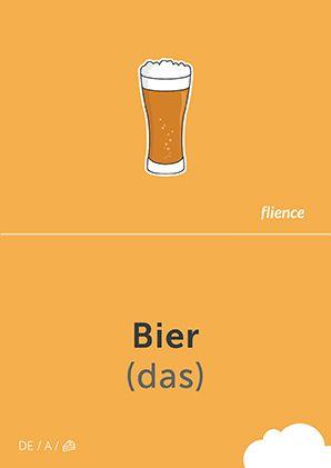 Bier #CardFly #flience #food #drinks #german #education #flashcard #language