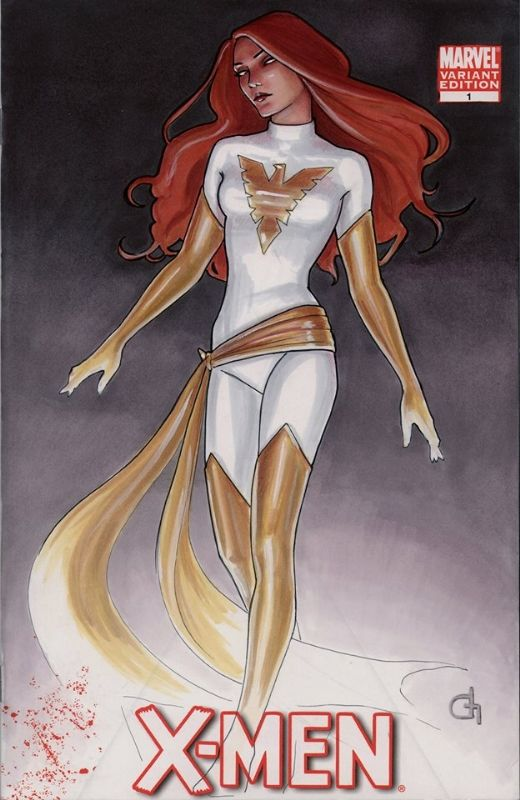 CGC White Phoenix Jean Grey X-Men 1 by Dijana Granov Comic Art