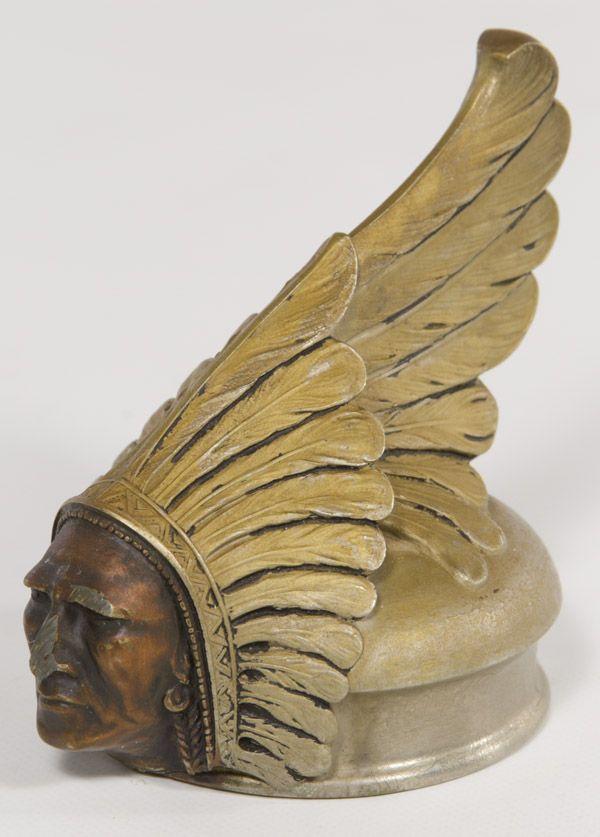 1927 Indian Pontiac Radiator Cap / Hood Ornament