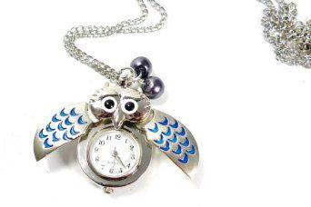 Owl Pocket watch - Am I blue? [Jewelry]