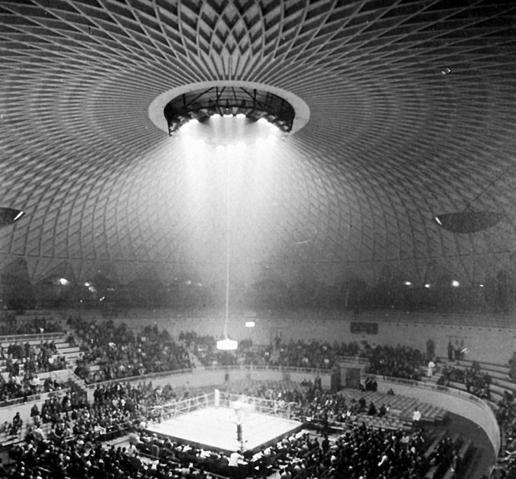Pier Luigi Nervi - Palazzetto dello Sporto, Rome 1957. Built for the 1960 summer Olympics. Via.