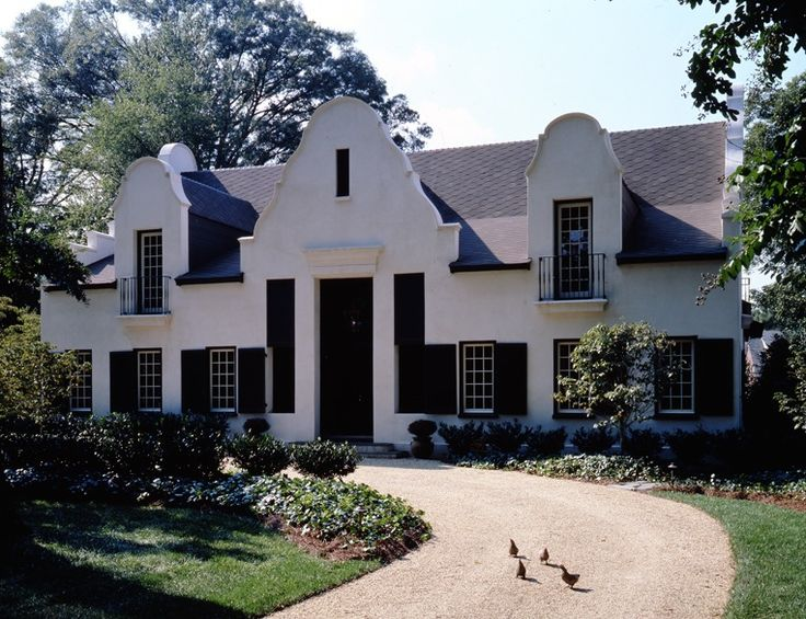 south african cape dutch stucco house by mcalpine tankersley