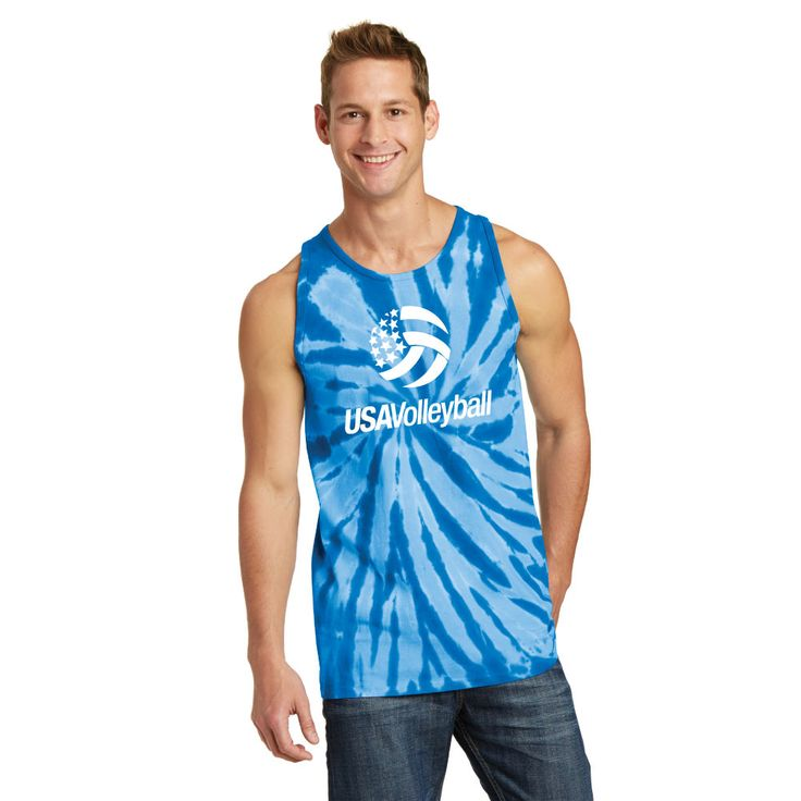 USA Volleyball Men's Tie Dye Tank Top | USA Volleyball Shop