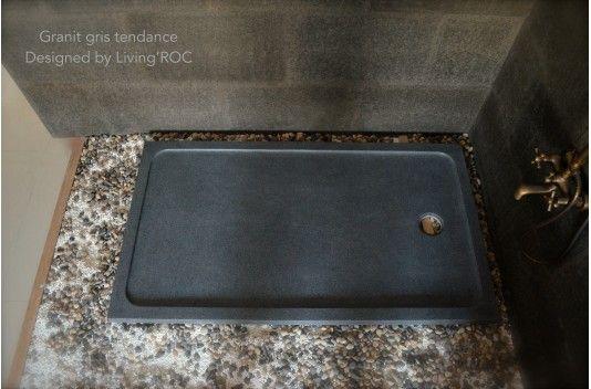 1400x1000 Grey Granite Stone Shower Tray - PALM