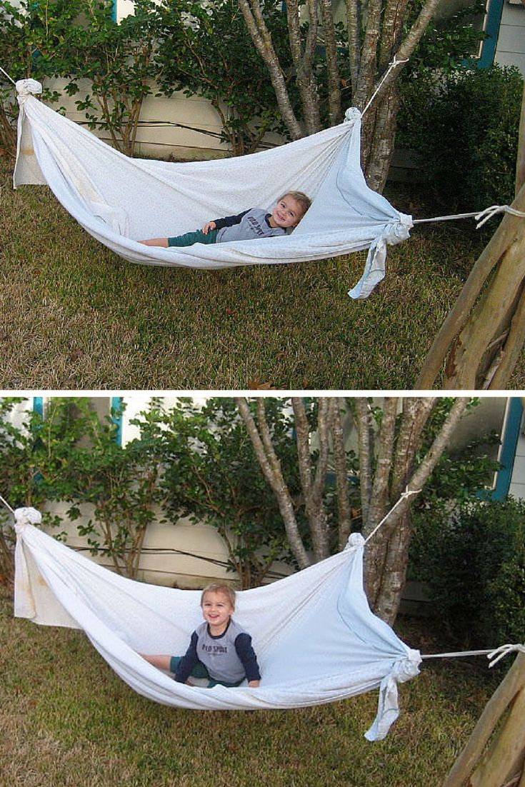 Best 25 homemade hammock ideas on pinterest hammock bed for Homemade forts outdoors