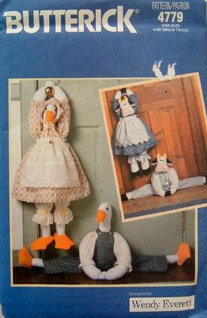 Vintage DRAFT STOPPER Sewing Pattern - Duck Cow Door Stop - Rare OOP #patterns4you