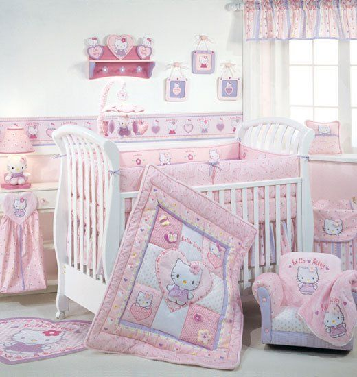 Omg!! Too cute! Almost makes me want another little girl just so I can do a nursery in this! Lol