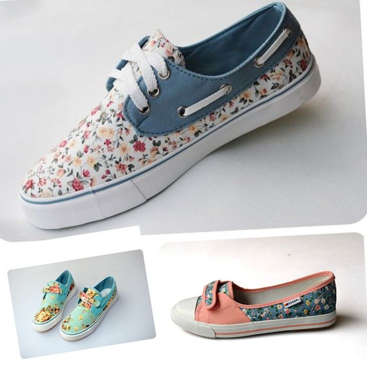 new 2013 Autumn hot sale Velcro and lacing women's flat canvas shoes,floral  print sneakers
