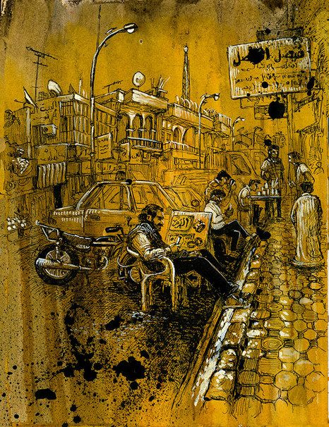 Scenes from Daily Life in the de Facto Capital of ISIS   by Molly Crabapple in Vanity Fair