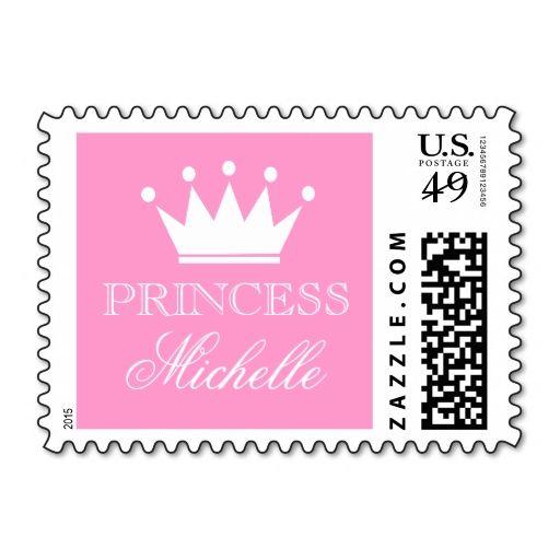 princess baby shower stamps princess theme pink princess princess baby