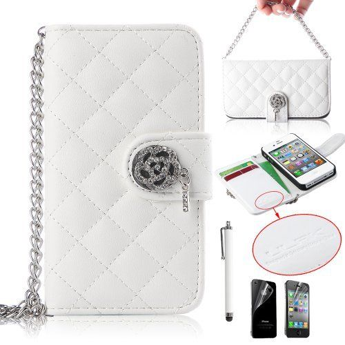 "Vind het iPhone hoesje van leer waar jij naar op zoek bent  - #leather iphone case and card holder | Pandamimi ULAK(TM) Luxury Handbag Chain Style PU Leather Wallet Case Folio Cover Credit Card Slot Holder for iPhone 4 4G 4S with Screen protector and Stylus (White) by ULAK, <a href=""http://www.amazon.com/dp/B00FB688L6/ref=cm_sw_r_pi_dp_yecpsb17Z5AG3"" rel=""nofollow"" target=""_blank"">www.amazon.com/...</a> - http://ledereniphonehoesjes.nl/slimme-iphone-6-hoesjes/"