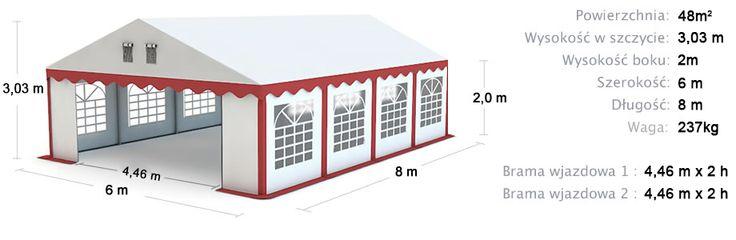 Namiot Handlowy Imprezowy 6m x 8m (48m²) całoroczny STANDARD MAX / Commercial Tent 6x8 Winter
