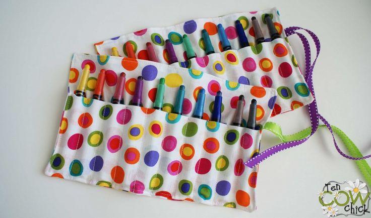 Twistable Crayon Roll Tutorial | Ten Cow Chick