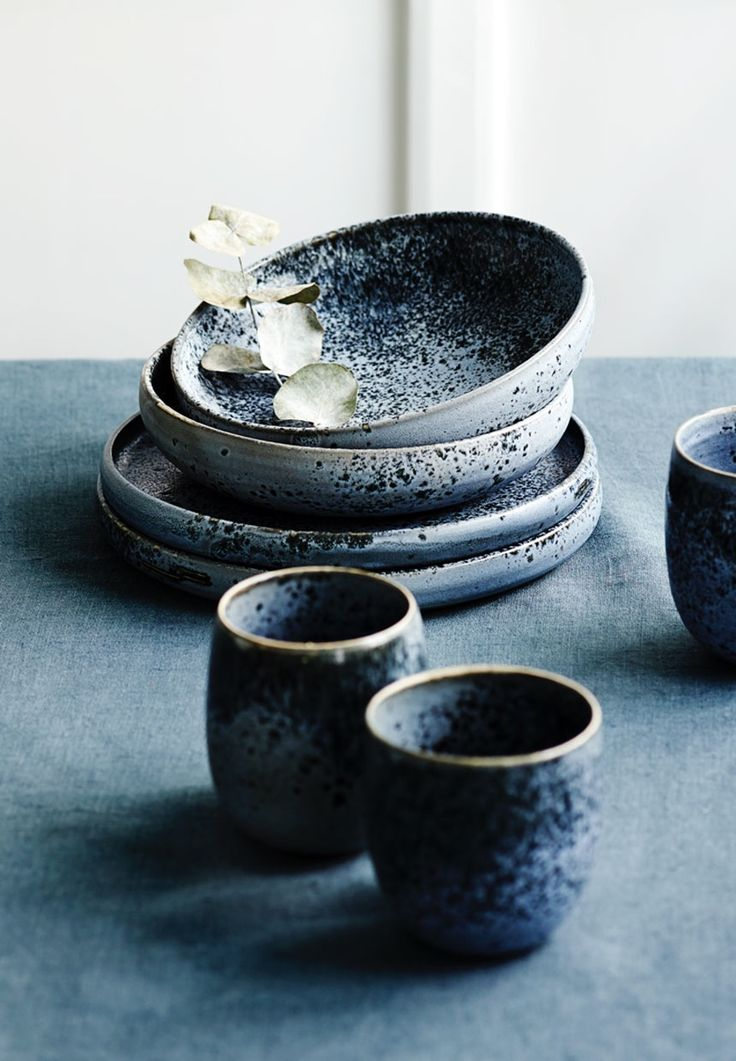 Rustic stoneware, as used on one of the world's best restaurants, Noma, in Copenhagen, KH Wurtz, H. Skjalm P.