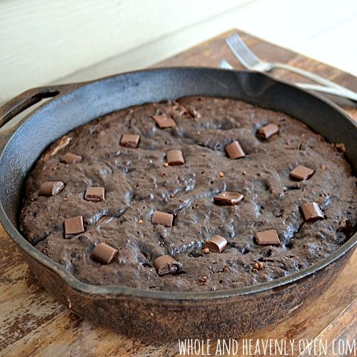 Fudgy Double Chocolate Skillet Brownies | Recipe