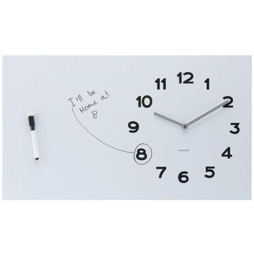 Karlsson Pure White Board Wall Clock