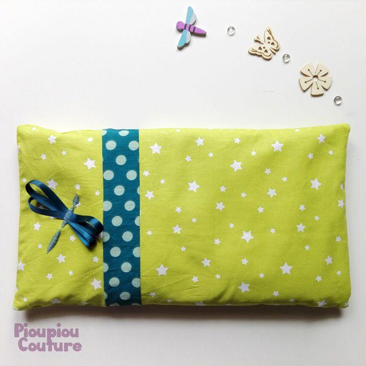 Belle bouillotte motif libellule - Taille 16 x 30 : Puériculture par pioupiou-couture