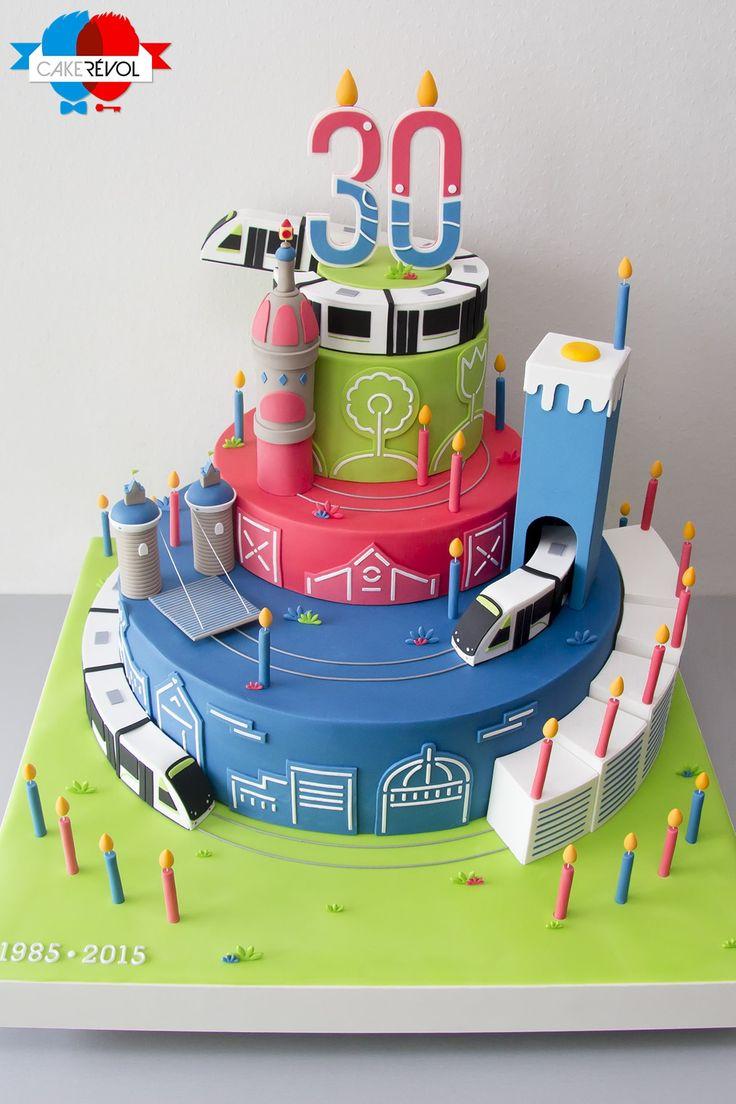 NOS CRÉATIONS - 30 ans de la Tan - CAKE RÉVOL - Cake Design - Nantes