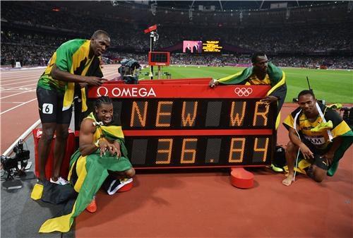 London-2012-Fastest men in the World!  Jamaica 4x100 relay.  cnn.com