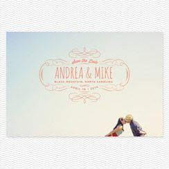 Wedding Photo Save the Date Printable PDF - Secret Crush. $100.00, via