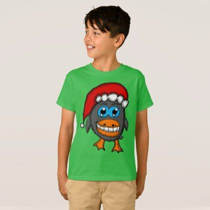 Christmas Penguin T-Shirt - animal gift ideas animals and pets diy customize