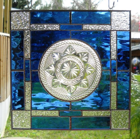 Stained Glass Panel Window Treatment with by HeritageDishes, $49.95