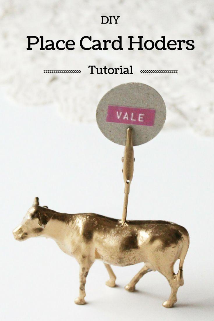 las ideas de la Vale: Tarjeta del lugar de DIY con animales de plástico Dorati - El Tutorial