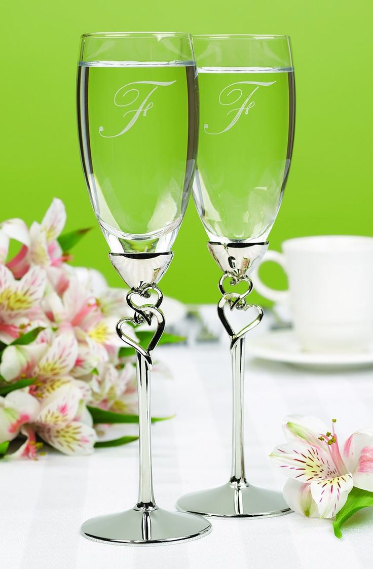 Personalized Entwined Hearts Flutes.