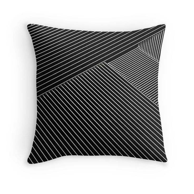 Line Art - Geometric Illusion, abstraction #pillows  20% off everything. Enter YOUEARNEDIT at checkout.