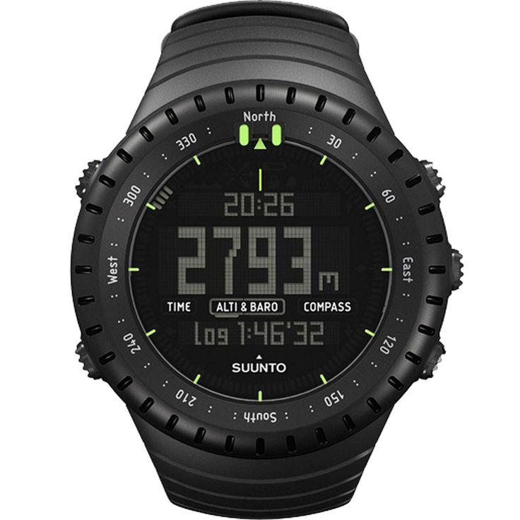 This All-Black Military Watch is great for outdoor wear with altimeter, barometer, compass and weather functions.