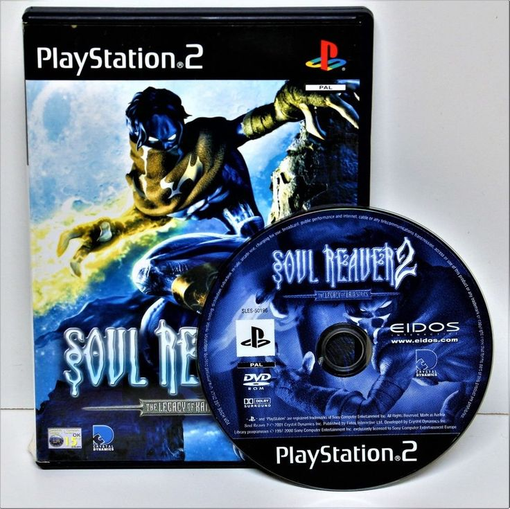 PLAYSTION 2 SOUL REAVER 2 LEGACY OF KAIN SERIES GAME GAMING COMPUTER PS1 PS2 PS3