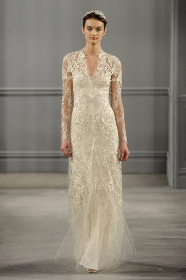 Monique Lhuillier's Spring 2014 #wedding #dress collection is vintage, chic and classy. @Monique Otero Lhuillier  Click through to see more beautiful gowns!