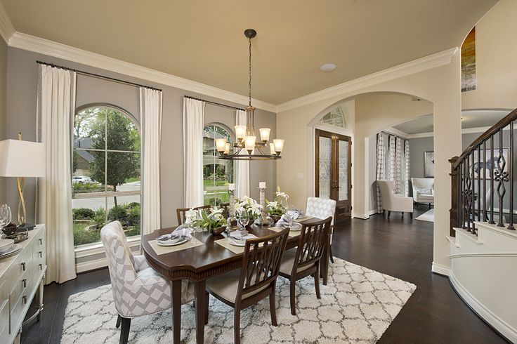 17 best images about sienna plantation stucco model home for Model home dining room