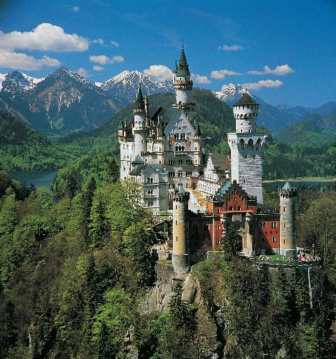 Neuschwanstein Castle – Schwangau, Germany.  This castle was the inspiration for Disney's Cinderella's Castle.  Therefore, I must go.