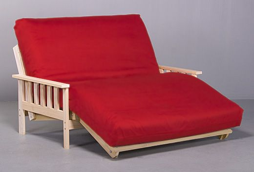 Awesome Twin Size Futon Mattress Cover Red Color