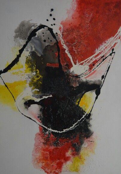 No.15 Kleurige moderne abstracte schilderijen, acrylverf op doek zonder lijst. Prijzen varieren tussen de 50 en  195 euro. Voor meer informatie neem contact op met schilderijen.Fenny@gmail.com