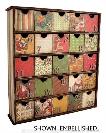 Kaiser Craft - Beyond the Page - 25 Drawer Treasure Chest advent calendar