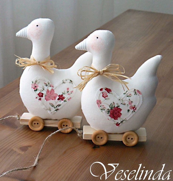 Like the floral detail on these ducks