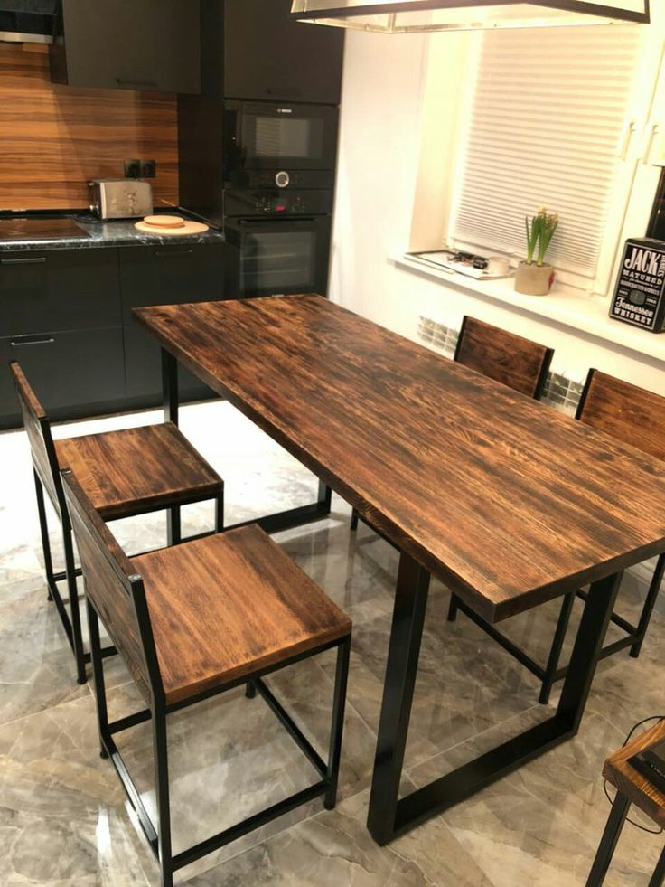 всего фото стола из металла и дерева про