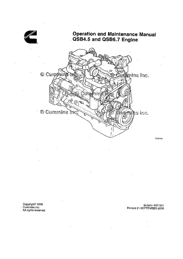 CUMMINS QSB4.5 & 6.7 Engine Operation and Maintenance