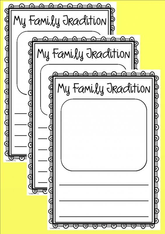 Students can write and draw about a tradition that is special/important to their family.3 different templates with different sized lines to suit your class.Fits in nicely with your history program whe